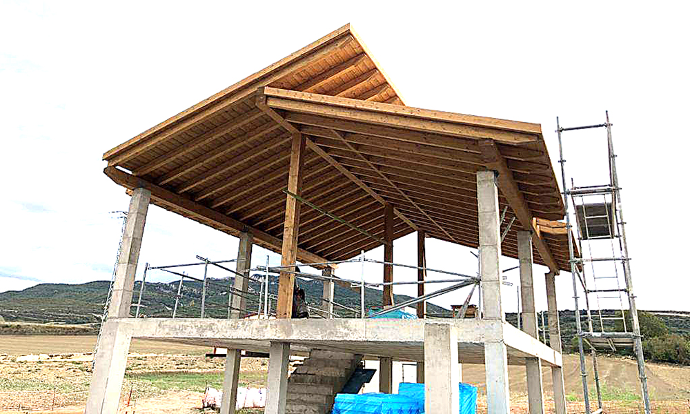 Tejados con estructuras de madera